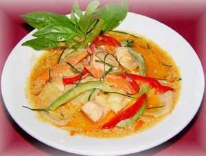 Thai curry seafood